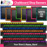 Chalkboard TPT Shop Banners Clip Art | Leaderboard & Column Graphics 1