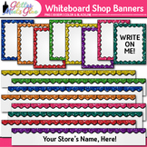 Whiteboard TPT Shop Banners Clip Art: TPT Store Graphics 2