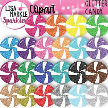 Rainbow Glitter Candy Clipart