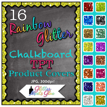 Chalkboard Product Covers Clip Art {Design Teachers Pay Te