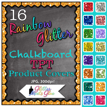 Chalkboard Product Covers Clip Art {Design Teachers Pay Teachers Resources} 1