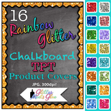 Chalkboard Product Covers Clip Art: TPT Store Graphics 1 {