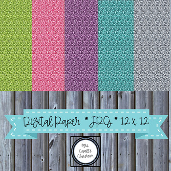 Rainbow Glitter Digital Paper Backgrounds-Pink, Teal, Green, Purple and Silver