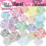 Fireworks Clipart for Fourth of July with Glitter