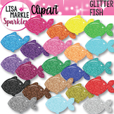Fish Clipart with Glitter