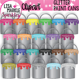 Rainbow Glitter Paint Can Clipart for Back to School