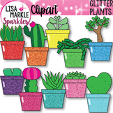 Cactus Clipart with Glitter