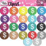 Rainbow Glitter Saint Patrick's Day Gold Coin Clipart