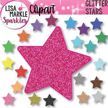 Rainbow Glitter Star Clipart
