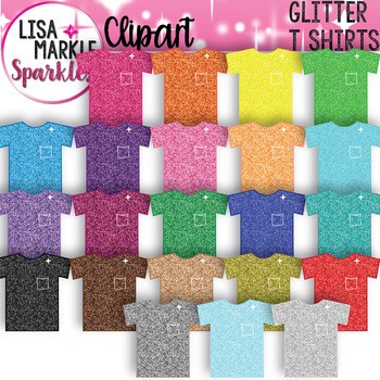 Rainbow Glitter T Shirt Clipart