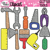 Rainbow Glitter Tools Clipart for Father's Day