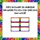 Rainbow Glitter Word Wall