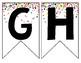 Rainbow & Gold Glitter Confetti Banner {Entire Alphabet}