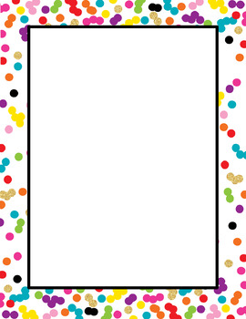 Rainbow & Gold Glitter Editable Pages