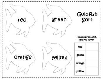 Rainbow Goldfish Cracker Sort And Graph FREEBIE 333637 on Goldfish Graphing Preschool