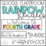 Rainbow Google Classroom Header [Bundle]