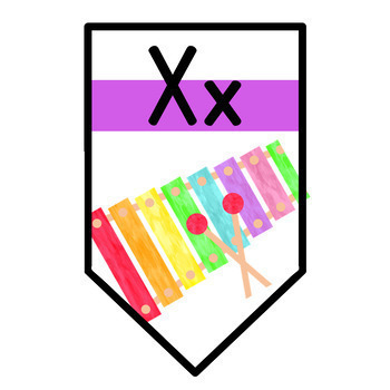 Rainbow Gradient Alphabet Banner - Spanish