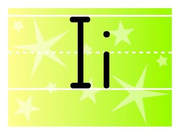 Rainbow Gradient Alphabet Line - Zaner Bloser