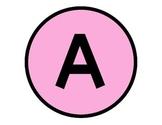 Rainbow Gradient Alphabet Set