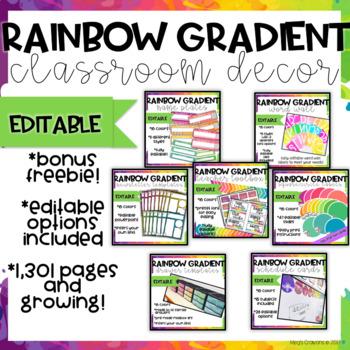Rainbow Gradient Classroom Decor-GROWING