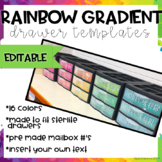 Rainbow Gradient Drawer Labels