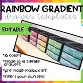 Rainbow Gradient Drawer Labels