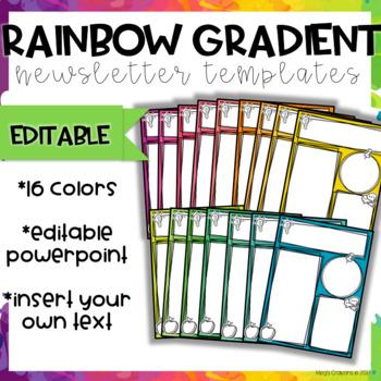 Rainbow Gradient Newsletter Templates-Editable