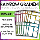 Rainbow Gradient Newsletter Templates-Editable