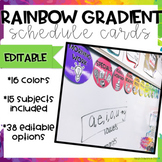 Rainbow Gradient Schedule Cards- Editable