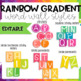 Rainbow Gradient Word Wall-EDITABLE