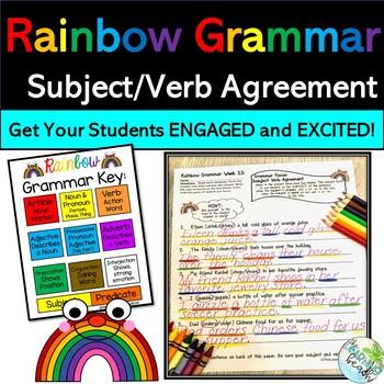Rainbow Grammar Lesson 13:  Subject Verb Agreement