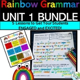 Rainbow Grammar UNIT 1 HMH JOURNEYS Grammar Lessons 1-5 Bundled