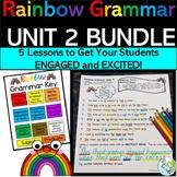 Rainbow Grammar for Third Grade UNIT 2 Grammar Lessons 6-10 {HMH Journeys}
