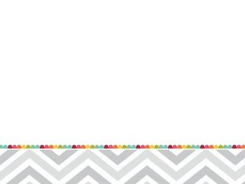 Rainbow Gray Chevron PowerPoint Template