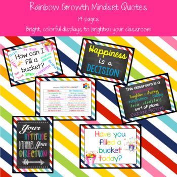 Rainbow Growth Mindset Posters