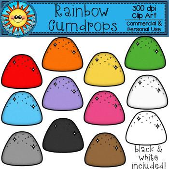 Rainbow Gumdrop Clip Art