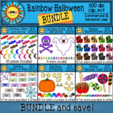 Rainbow Halloween Clip Art BUNDLE