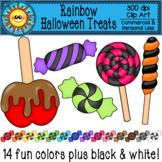 Rainbow Halloween Treats Clip Art