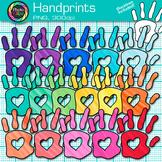 Rainbow Handprint Clip Art   Community Helper Hands for Class Decor & Task Cards