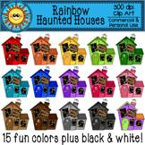 Rainbow Haunted House Clip Art
