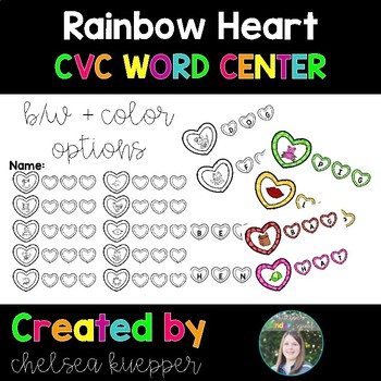 Rainbow Heart CVC Literacy Center