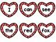 Rainbow Heart Sentence Writing Literacy Center