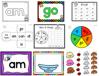 Sight Word Work by Guided Reading Level-Rainbow Heart Words: List 1 Level A