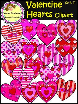 Rainbow Hearts - Clip Art (School Designhcf)