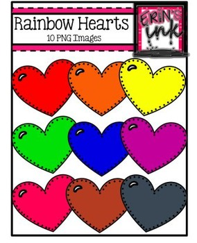 Rainbow Hearts Clipart