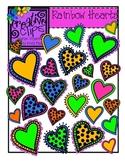 Rainbow Hearts {Creative Clips Digital Clipart}