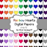Rainbow Hearts Digital Papers
