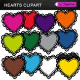 Rainbow Hearts FREE Clipart