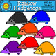 Rainbow Hedgehogs Clip Art