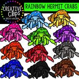 Rainbow Hermit Crabs {Creative Clips Digital Clipart}